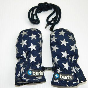 Barts size 1 Blue Silver Star Mittens